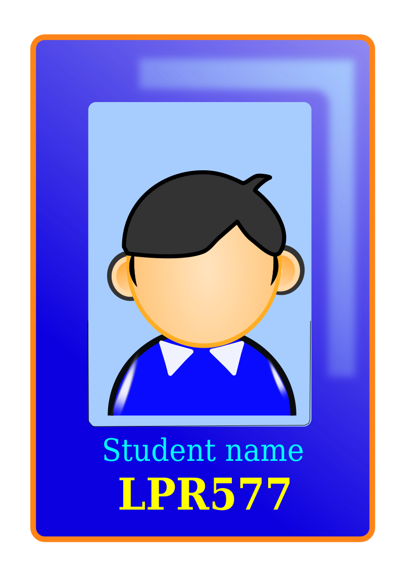 Clip cards school id. Clipart user identity medium