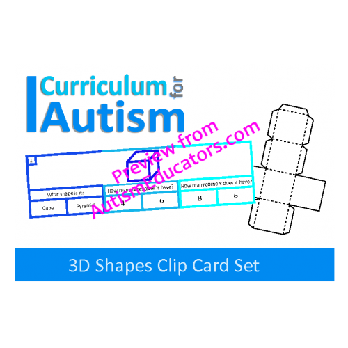 Clip cards shape. D shapes with