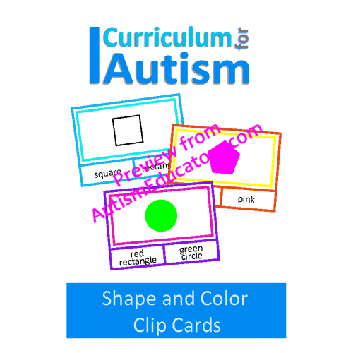 Clip cards shape. Shapes and colors