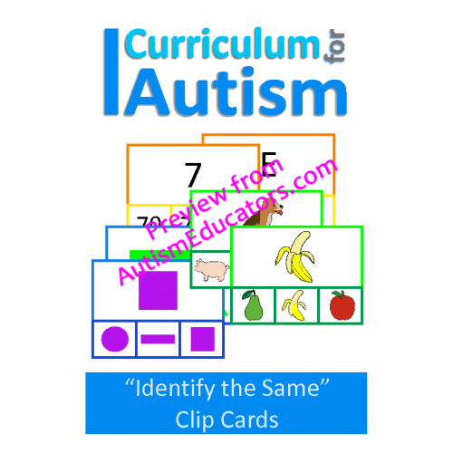 Clip cards shape matching. Basic concepts match the