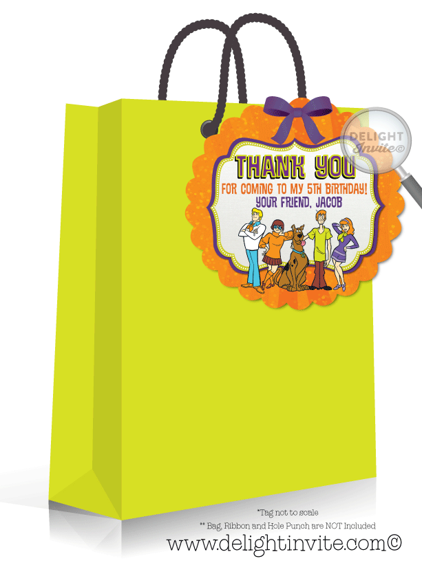 Clip cards tag. Scooby doo birthday favor
