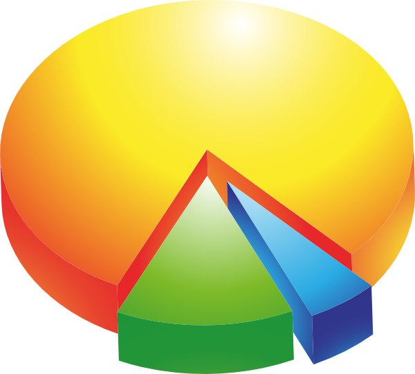 Vector 90 pie chart. Free cliparts download clip