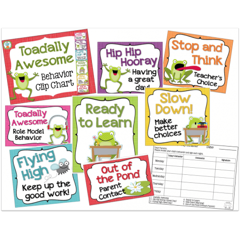 Clip up chart. Toadally awesome behavior educents
