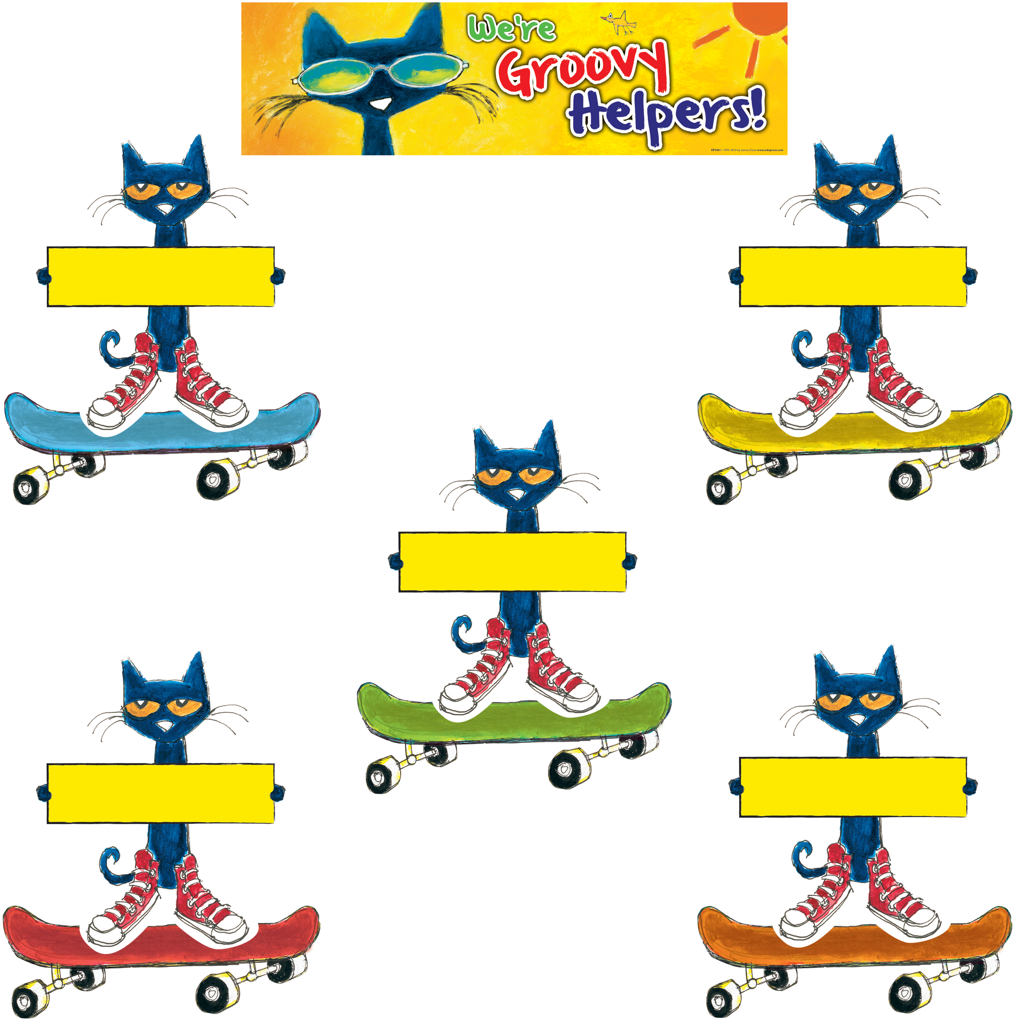 Clip charts bulletin board. Pete the cat groovy