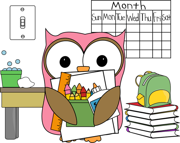 Owl . Classroom clipart transparent library