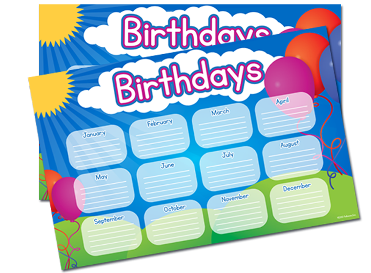 Clip Charts Classroom Birthday Poster Printables Fellowes 760 X 560 9 1