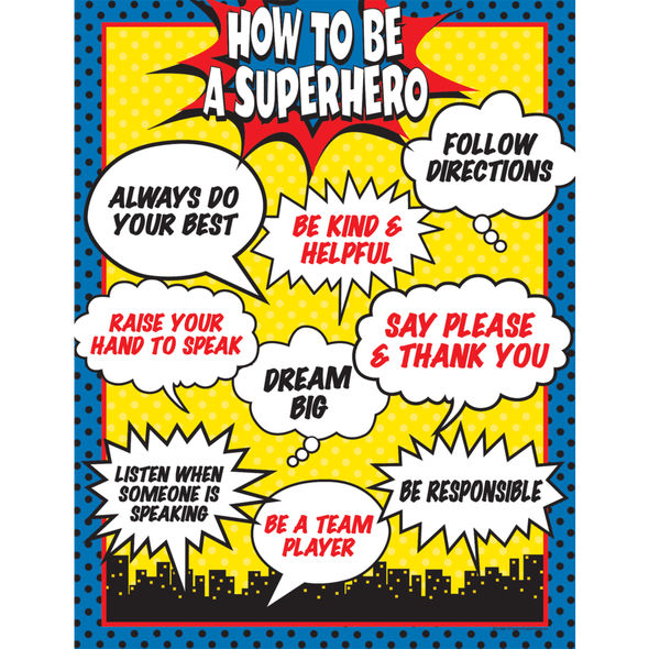 Clip charts superhero. How to be a