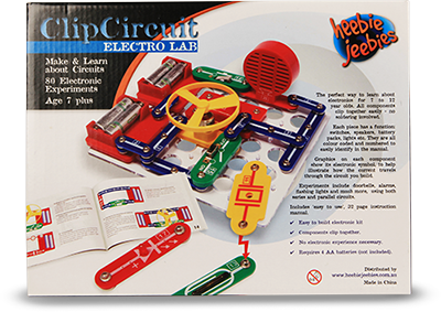 Clip circuit. Electro lab kit