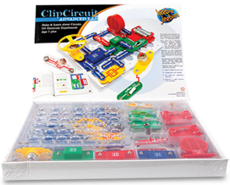 Clip circuit. Science toys and kits
