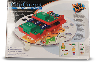 Intelligent rover . Clip circuit kit banner royalty free download