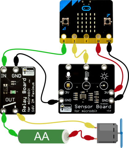 Clip circuit starter lab. Electronics kit for micro