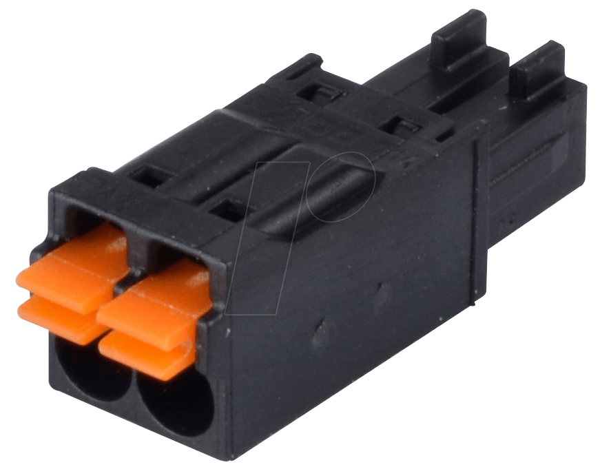 Clip buttons connector. Wago pole rm mm
