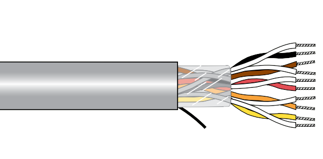 Alpha ecocable mini unshielded. Clip connector 22 awg image freeuse library