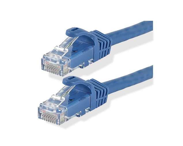 Clip connector cable. Ethernet patch cables snagless