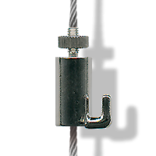 Clip connector hook. Self locking cable peakrock