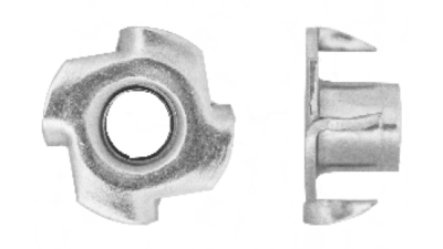 Nuts anzor fasteners stainless. Clip connector nut royalty free