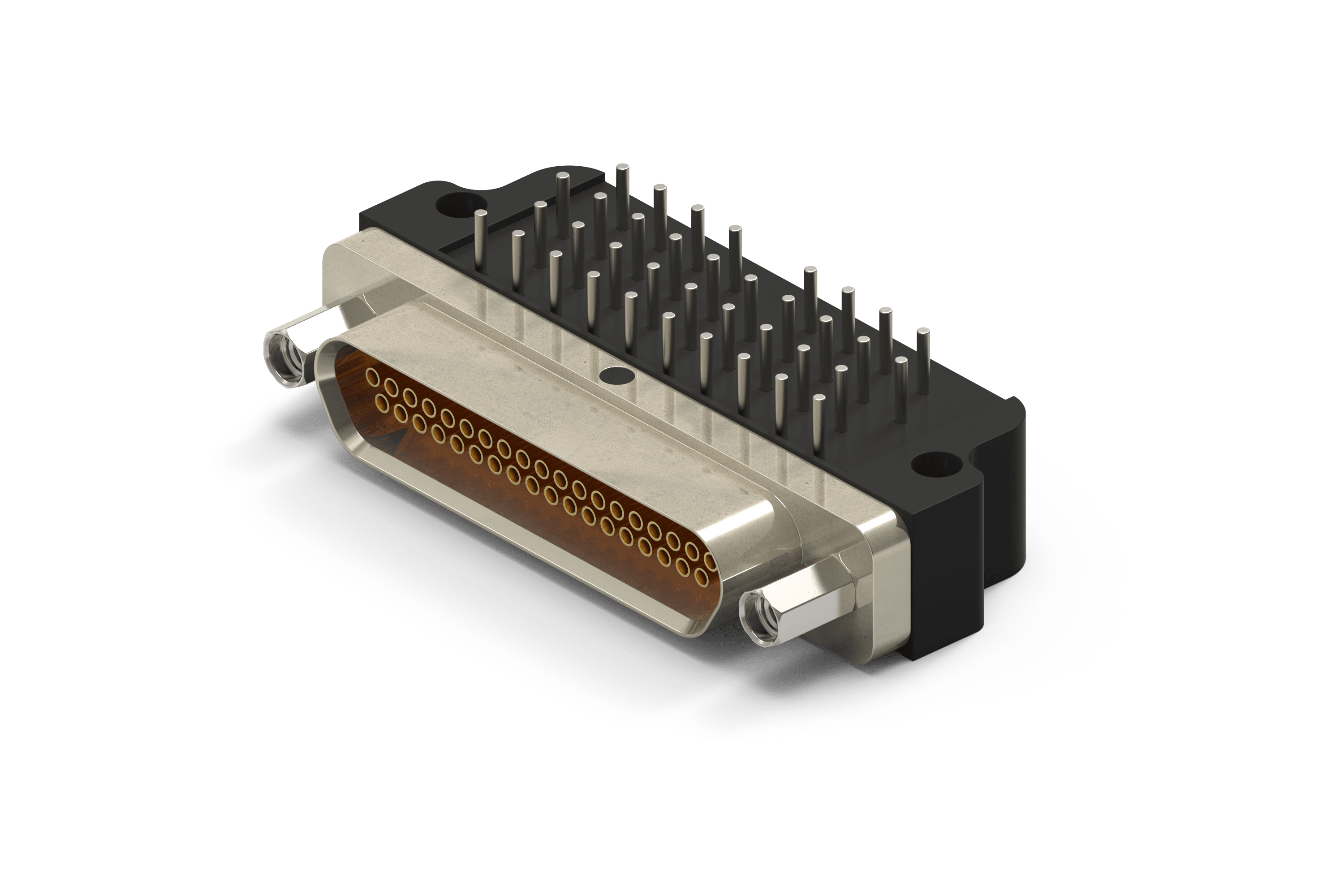 Clip connector pcb. Micro d solder tail