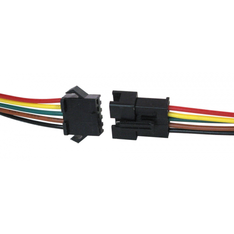 Clip connector wiring. Conductor locking w