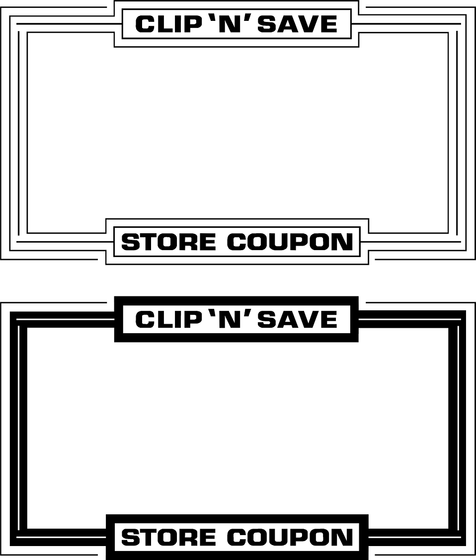 Clip coupon frame. Free stock photo illustration