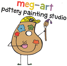 Clip coupon painting. Meg art pottery studio