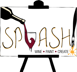 Clip coupon painting. Splash wine paint create