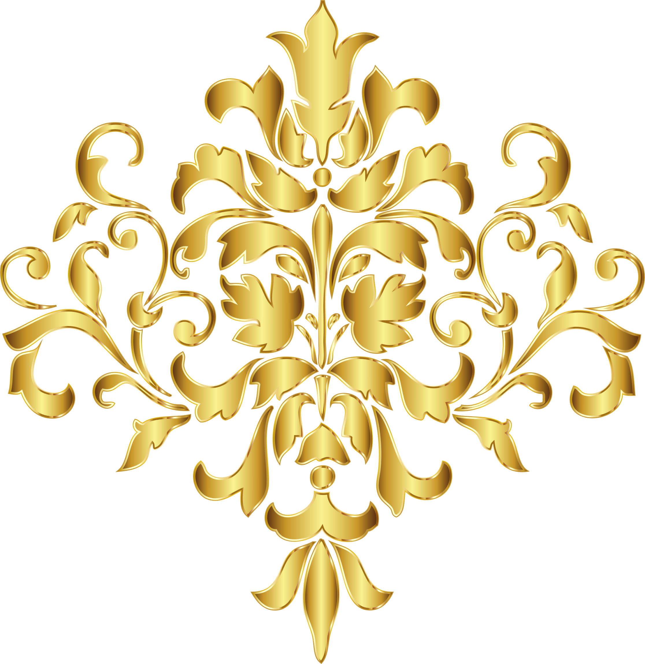 Clip design damask. Gold no background icons