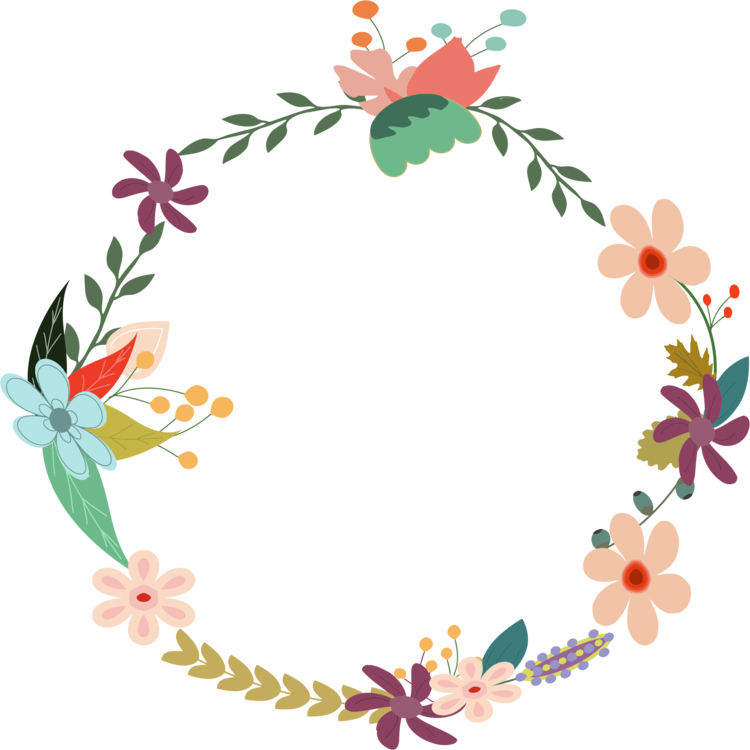 Clip design flower. Laurel wreath floral crown