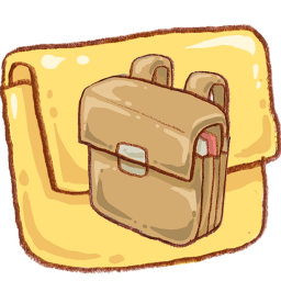 Clip directory bag. School folder icon png