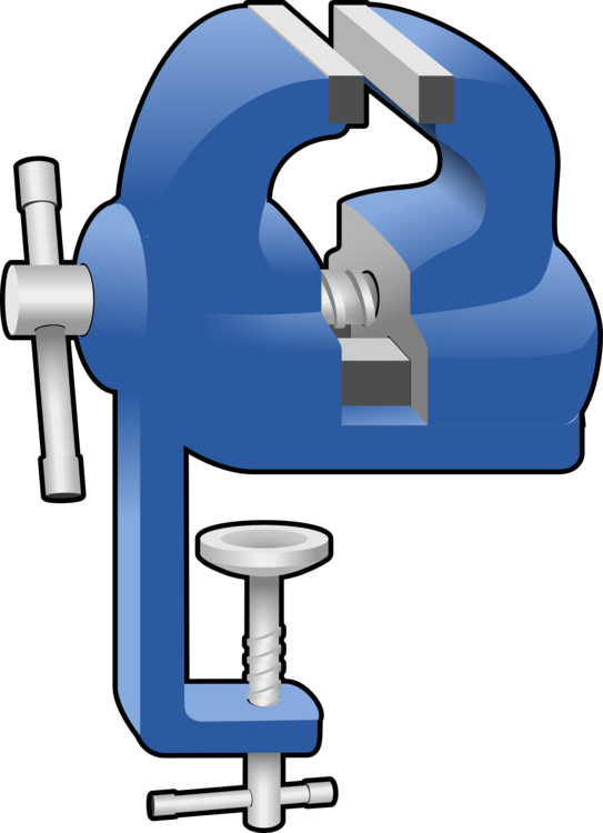 Clip directory clamp. Vise metalworking computer icons