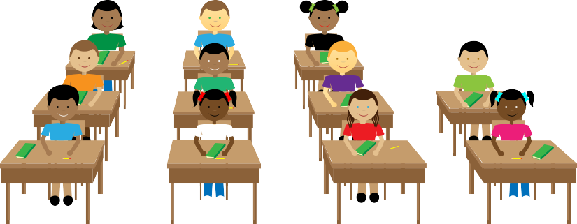 Classroom vector animated. Policy in your ms