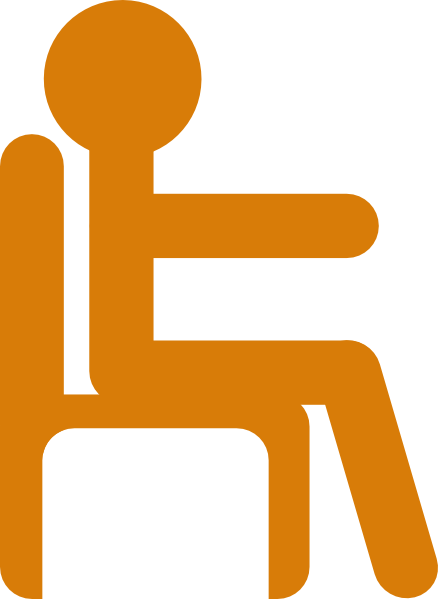 Clip down clipart. People sitting