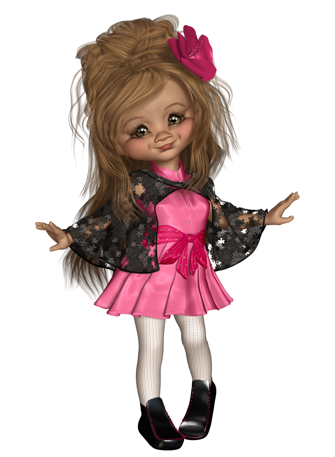 Clip dresses glitter glider. Larissa png cookie and