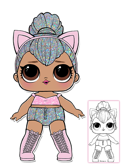Pins drawing doll. Lol surprise coloring pages