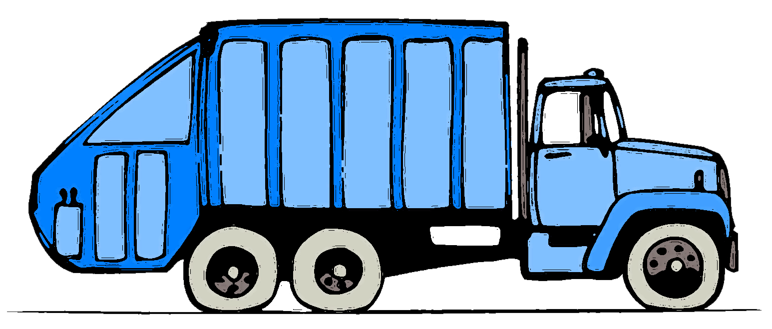 Clip dump garbage. Truck clipart art images