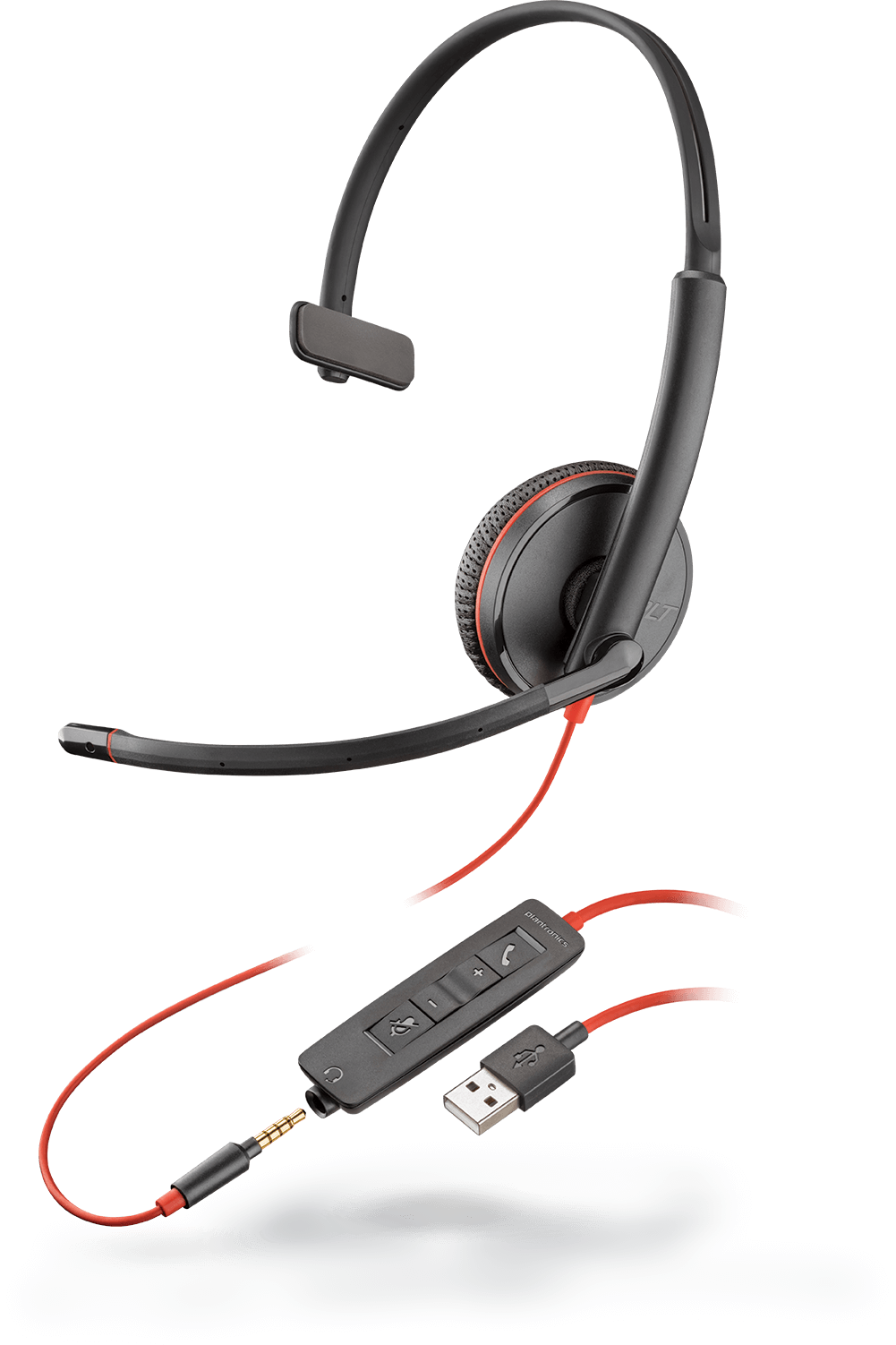 Earbud clip retractable. Plantronics products headsets headphones