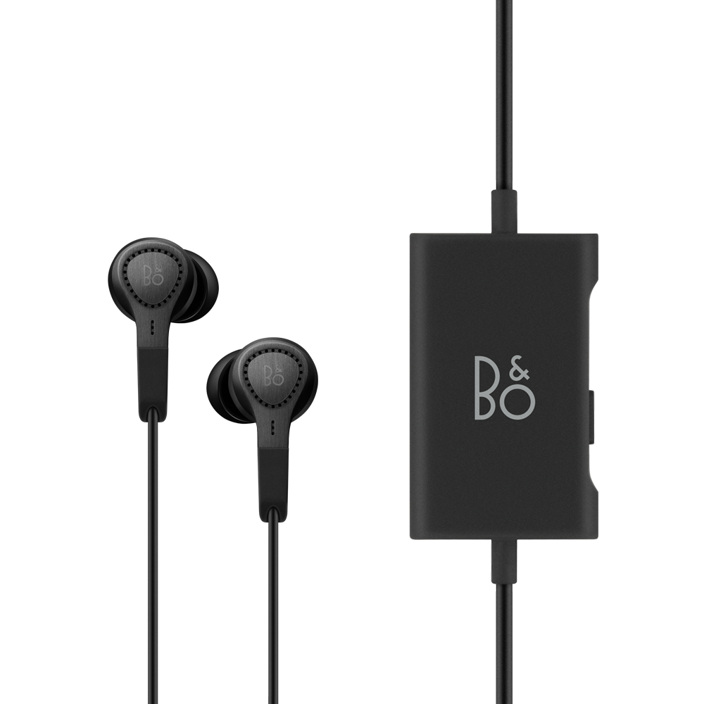 Clip earphones leather. Beoplay e premium with