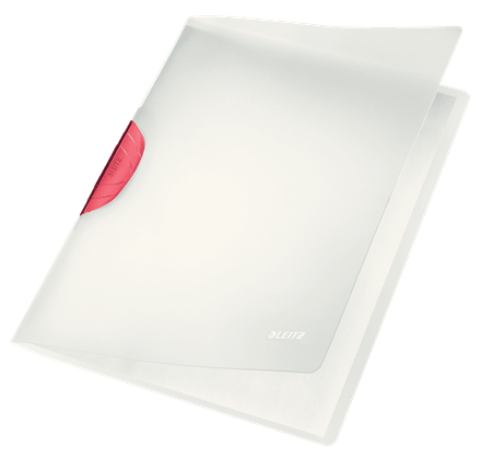 Clip folder pad. Leitz color a red