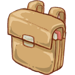 Clip folder bag. School icon png clipart