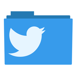 Clip folder brand. Twitter icon blue bird