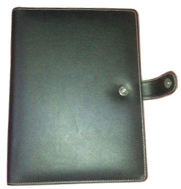 Clip folder leather. Conference goods accessories rudra
