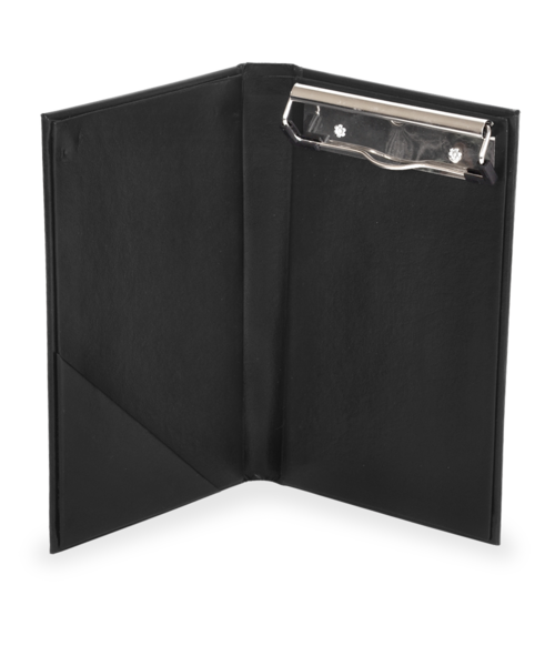 Clip folder pad. Deluxe casebound server holder