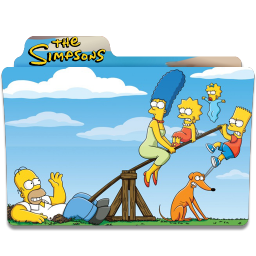 Clip folder slide. The simpsons icon download