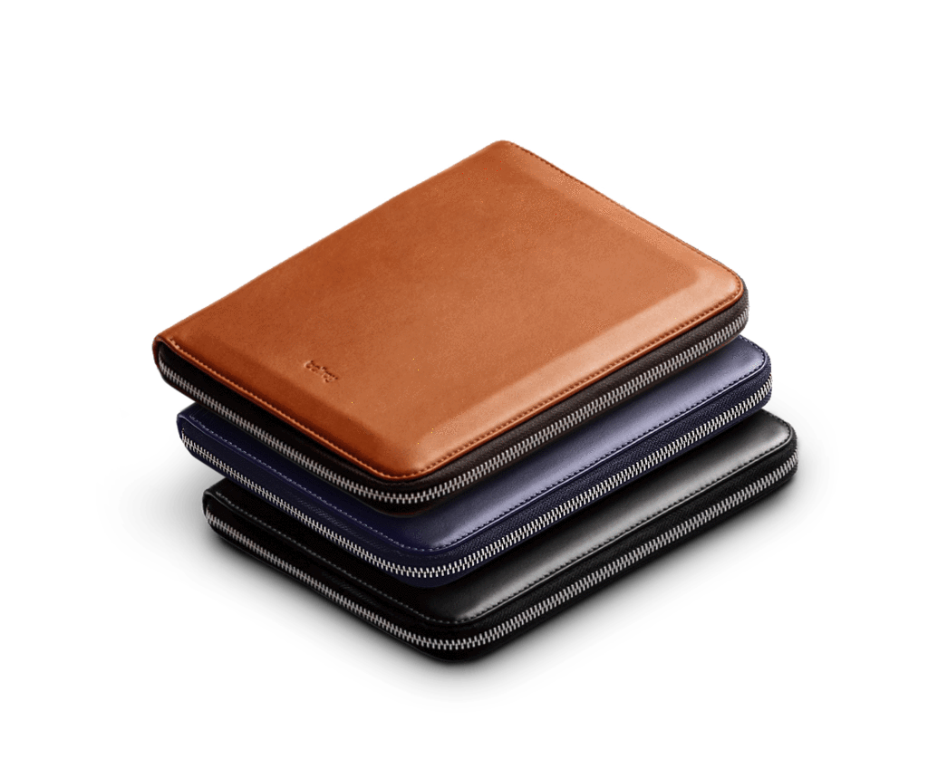 Clip folio leather. Bellroy compendium work a
