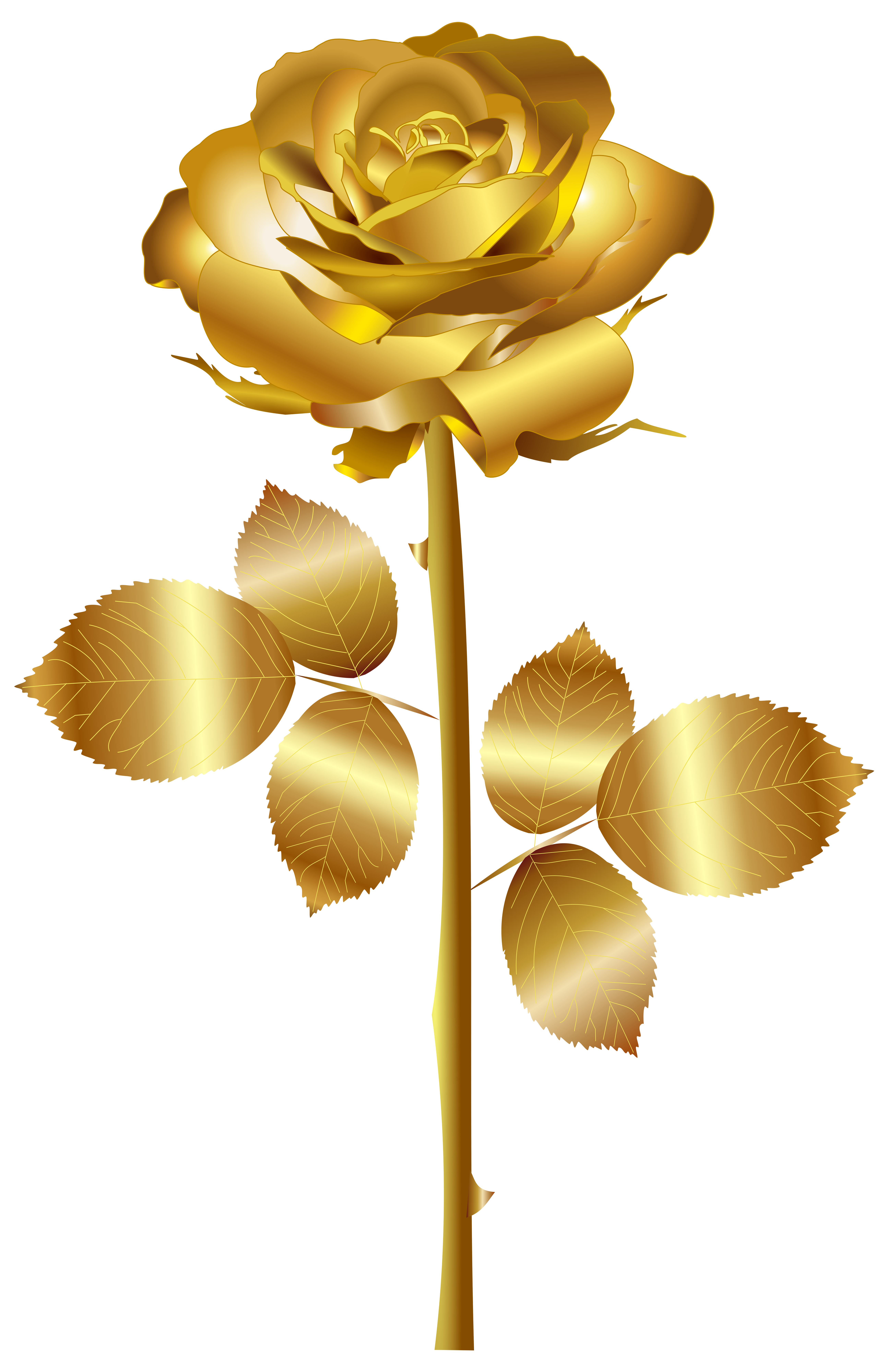 Clip from gold. Rose png art image