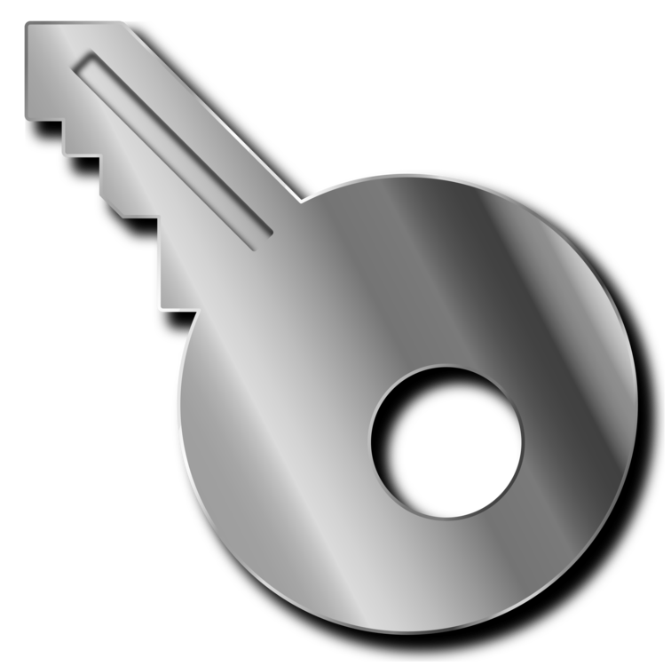 Clip from metal. Sheet key computer icons