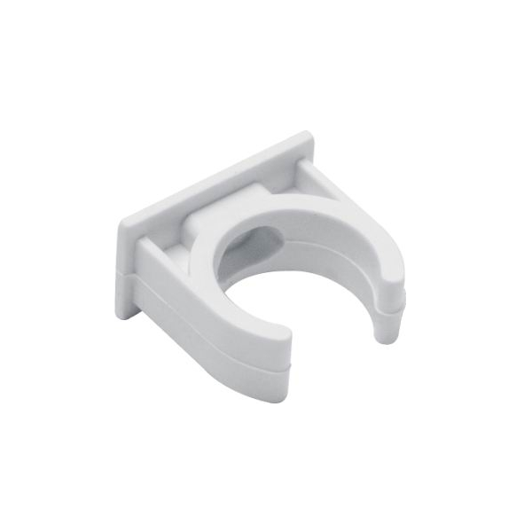 Clip types saddle. Pvc accessories fittings