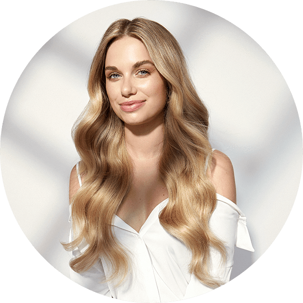 Clip from thick hair. Classic in luxy extensions