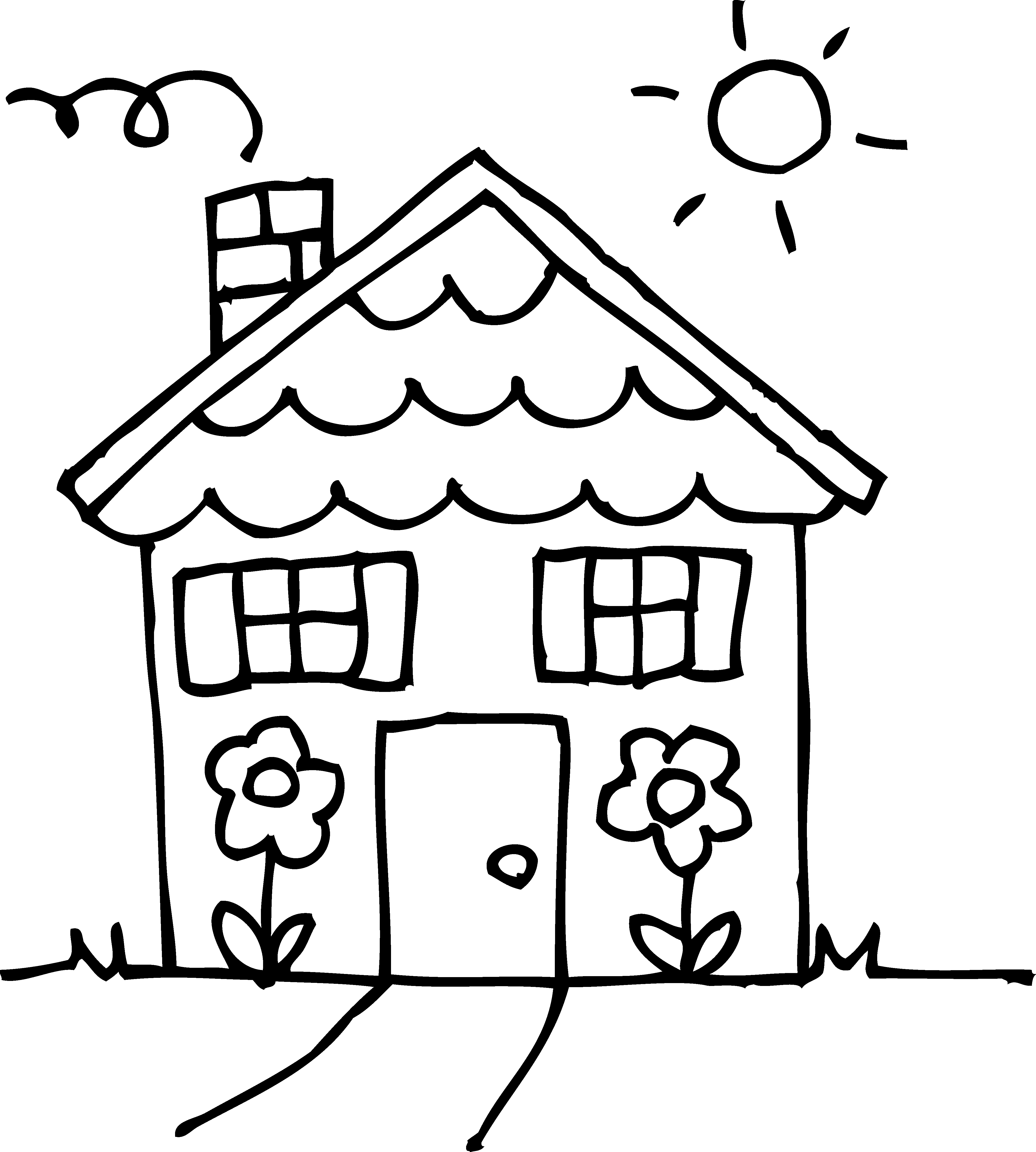Clip from white. Coloring clipart black and
