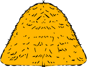 Clip hay art. Yellow stack at clker