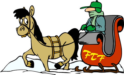horse and sleigh. Clip hay cartoon image royalty free